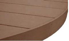 自由なデッキデザインを可能にするアール施工。
